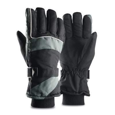SHR-GCHAO Berühren Winter Outdoor Sports Handschuhe Screen Plus Velvet Thick Warm Reiten oder Fahren Rennen Ski Handschuhe Schwarz,L