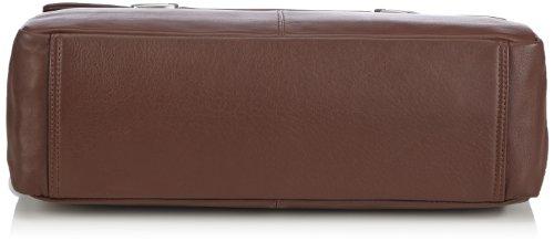Bugatti Bags Manhattan 49111302 Unisex-Erwachsene Schultertaschen 41x31x14 cm (B x H x T) Braun (braun 02)