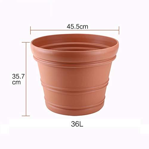 Grande Jardin Plein air Épaissir Plastique Pot de Fleur Simple Pot de Fleur-B 36L