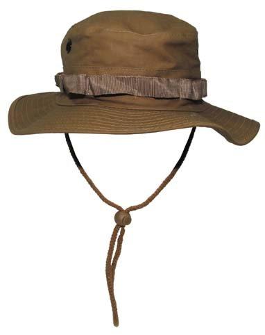 GI Boonie Hat Rip Stop Outdoor Dschungel Hut Buschhut Coyote Tan (dunkel sandfarben) S (Boonie Dschungel Hut)