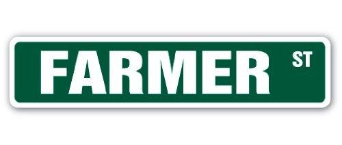 SignMission Farmer Straßenschild, Korn, Weizen, Obst, Gemüse, für Drinnen und draußen, 45,7 cm breit