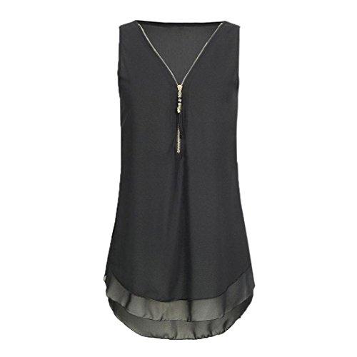 Sanfashion bekleidung - camicia - con bottoni - tinta unita - a punta tonda - donna aschwarz xxxxx-large