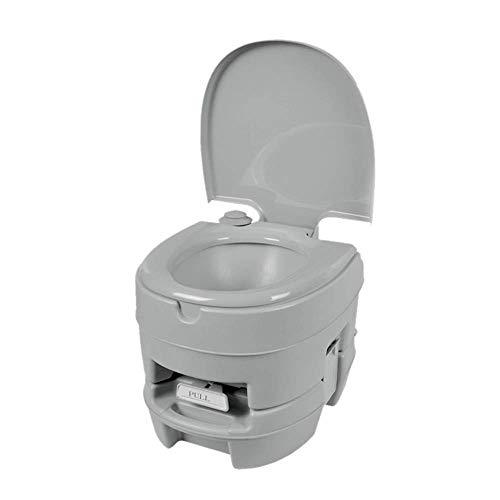 Camping-Toilette im Freien, mobiles herausnehmbares WC, 12-Liter-Abwassertank, auslaufsicher und mit Deodorant verschlossen, spülbare Reise-Tragbare Toilette (Wc-deckel Verschlossen)
