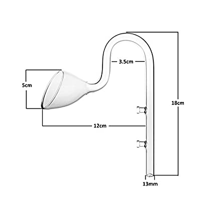 JARDLI Glass Lily Pipe Inflow Outflow Set 13mm for 12/16mm Tubing 3