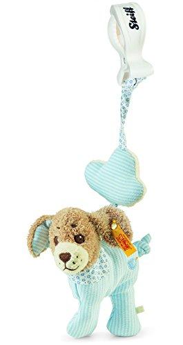 Steiff 240133 - Gute Nacht Hund Anhänger, Plüschtier, 12 cm, blau