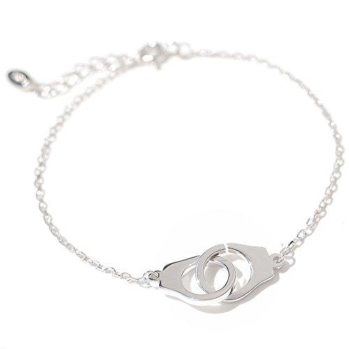 AWYILUFA Frauen Armband, 925 Sterling Silber Armband Mini Handschellen Armband Elegante Kette Schmuck Geschenke Für Frauen Damen Mädchen mit Exquisiten Schmuckschatulle