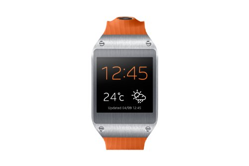 Samsung Galaxy Gear V700 Smartwatch (4,14 cm (1,63 Zoll) SAMOLED-Display, 800 MHz, 512MB RAM, Android 4.3) orange (Sm-v700 Gear Samsung)
