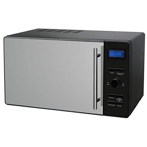 CONTINENTAL EDISON CEMO23CGBM - Micro-ondes combiné grill noir porte miroir - 23 L