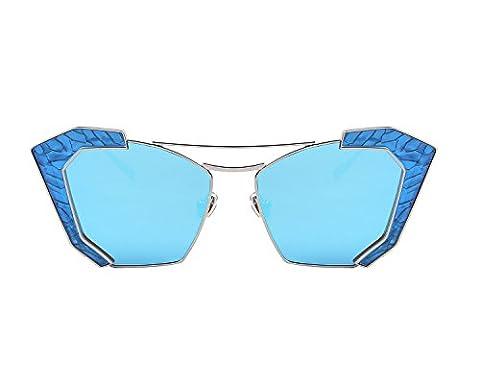 MERRY'S - Lunette de soleil - Femme Noir Blue&Blue Mirror