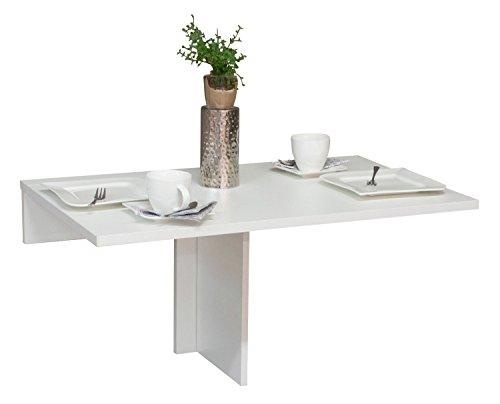 Wandklapptisch Klapptisch Wandtisch KYLE | Weiß | Dekor | klappbar | BxL 80x50 cm