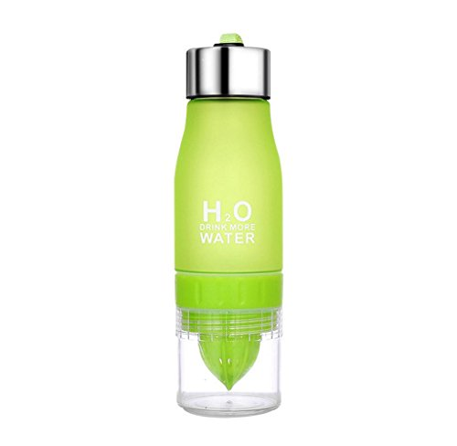 Covermason 650ml H2O Sports Früchte Trinkflasche Obst Getränk Infusion Wasserflasche - Create Your Own Naturally Flavored Fruit Infused Water, Juice, Iced Tea, Lemonade & Sparkling Beverages (Grün)