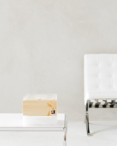 ZirbenLüfter CUBE mini cristall, natürlicher Luftbefeuchter / Luftreiniger aus Zirbe / Zirbenholz. – Räume bis 15 m2. (Abdeckung glasklar mit Blume des Lebens) Für Räume bis 15 m2 - 4