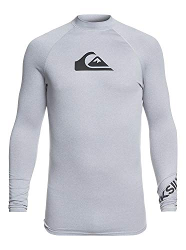 Quiksilver Herren All Time L/sl Surf Tee, Light Grey Heather, S