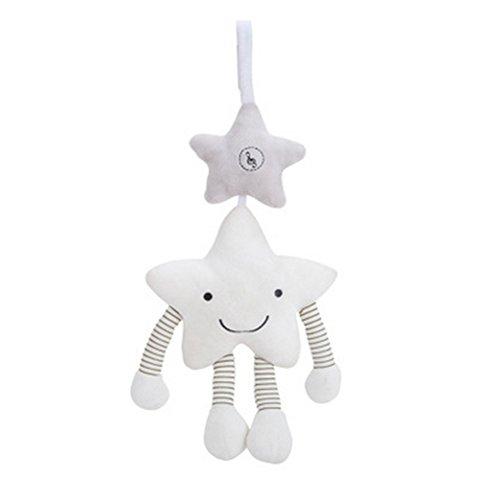 Newin Star Asiento para niños pequeños coches musicales de viento colgante de Bell Puzzle juguete suave cochecito de bebé Juguetes para la Actividad infantil los animales de peluche de juguete Ni