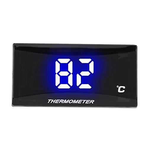 Motorrad Thermometer, Platz Motorrad Instrument Thermometer Digital Hygrometer Luftfeuchtigkeit Temperaturanzeige Manometer Blaues Licht