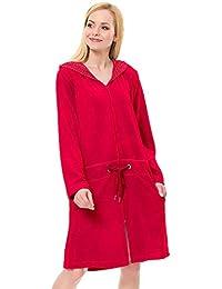 dn-nightwear - Peignoir - Femme - Rouge - Medium