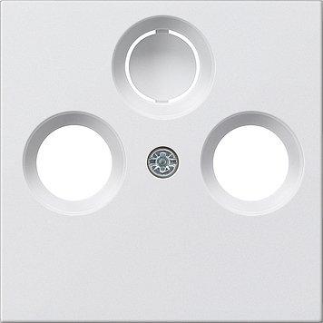GIRA Serie Standard 55 - reinweiß glänzend (086903) Abdeckung TV 2/3-Loch - Standard 3-loch