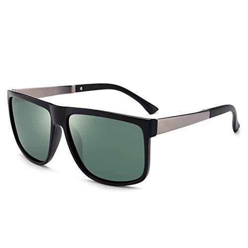 YLNJYJ Klassische Polarisierte Sonnenbrille Männer Frauen Vintage Markendesigner Platz Fahren Sonnenbrille Retro Männliche Brille Uv400 Sonnenbrille Shades