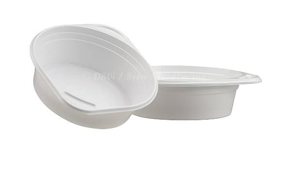 200 Suppenterrinen mit Anfasser weiß 500ccm Suppenterrine Einweg Plastik