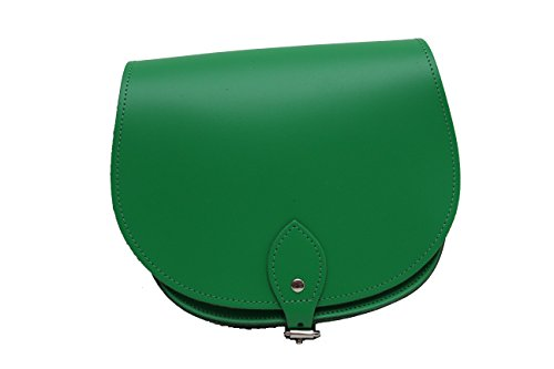 Verde de cuero real cuerpo de la cruz de una silla del bolso con correa ajustable y Cierre Hebilla