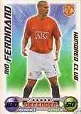 Match Attax 2008/2009 Rio Ferdinand 08/09 Hundred 100 Club Card