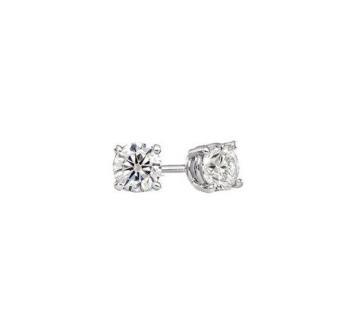 Unisex zircone swarovski elements cristallo bianco rotonda stile classico argento 925