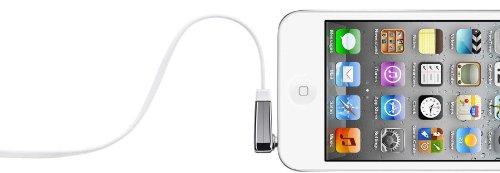 Belkin flaches Audio-Kabel (3,5 mm auf 3,5 mm mit abgewinkeltem Klinkeanschluss, 0,9 m) weiß -
