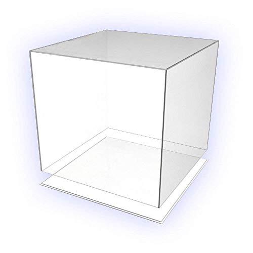 HOKU Holzhäuser Kunststofftechnik  Präsentationsbox. Acryl-Glas Box 30-cm x 30-cm x 30-cm mit Boden/Deckel Würfel, Acryl/Plexiglas, 5 transparente Seiten, farblos (Acryl-box)