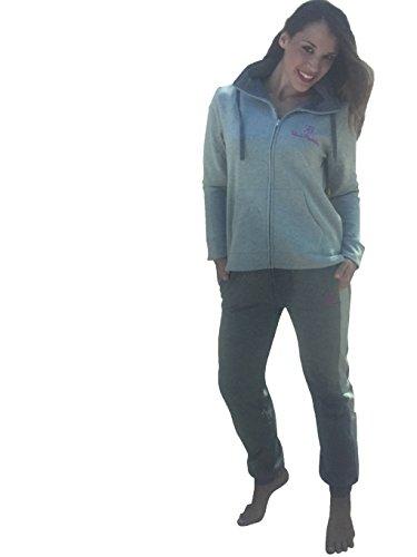 pigiama tuta tempo libero donna RENATO BALESTRA cotone felpato con full zip art.RF53 (TG.M, GRIGIO)