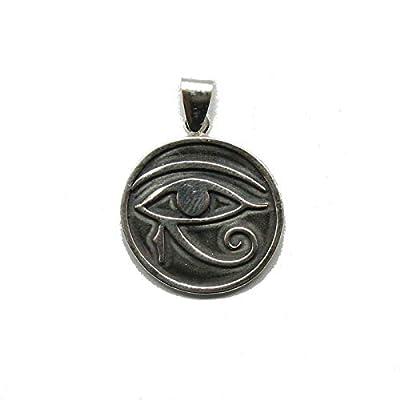 Pendentif en argent massif 925 Oeil d'Amon Ra PE001322