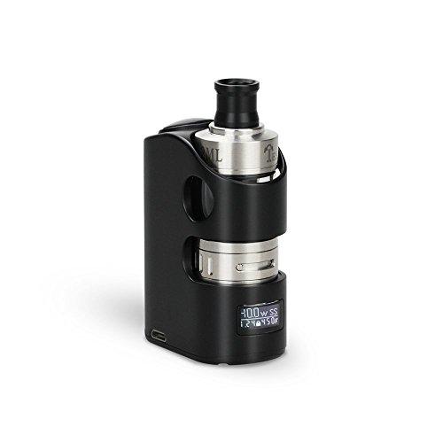 Teslacigs Mini Caja Mod E-Cigarrillo 40W Cigarrillo Electrónico E-Shisha Vaporizador Vape Kit con Temperatura Control Pantalla LED No E-Líquido Sin Nicotina - Negro (Actualizado negro)