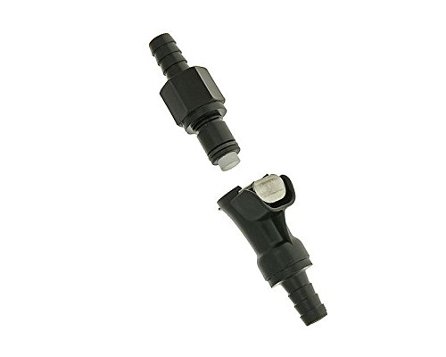 Benzinschlauch Kupplung schwarz 8mm