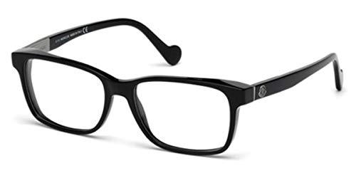 Moncler ML5012, Occhiali da Sole Unisex-Adulto, (Nero Lucido), 54.0