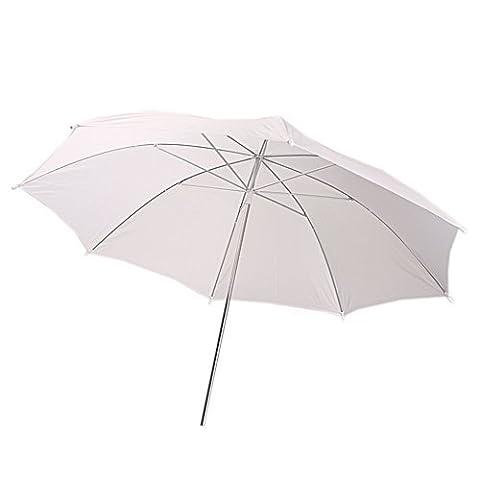 TOOGOO(R) 33 inch parapluie photographique en blanc translucide pour flash de studio