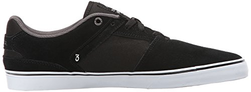 Emerica The Reynolds Low Vulc, Chaussures de skateboard homme Noir/blanc/argenté