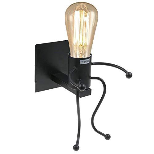 Luce da parete,retro light creative e27 iron art art deco per soggiorno, camera da letto