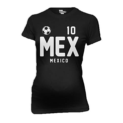 d148afd81 Racoste Eletina Mexico Soccer Jersey Women s Maternity T-Shirt Black