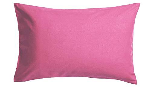 Roy Textile Ltd - Juego de 2 Fundas de Almohada Mezcla de algodón, Color Fucsia