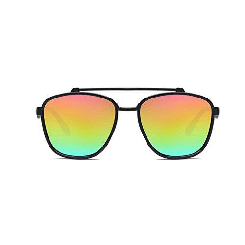 RLJJSH Sonnenbrillen Mode Schwarze Sonnenbrille neutrale Farbfilm-Sonnenbrille PC-Rahmen (Mehrfarbig optional) Sonnenbrille Sonnenbrille (Farbe : Five Colors, größe : One Size)