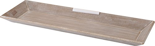 Holz Deko Tablett im Shabby Chic Design - 60 x 21 cm - Vintage Serviertablett Kerzentablett