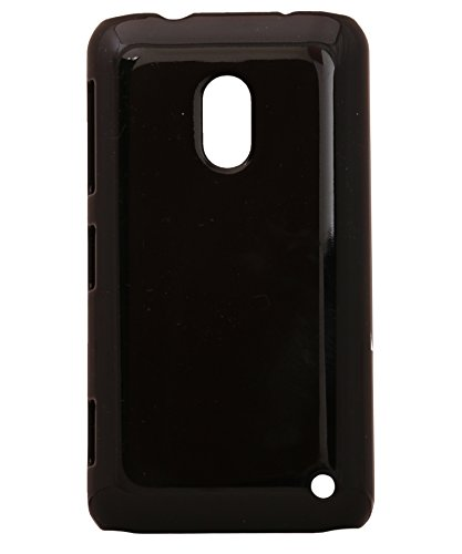 iCandy™ Colourful Glossy Hard Back Cover with Free Screenguard For Nokia Lumia 620 - Black  available at amazon for Rs.170