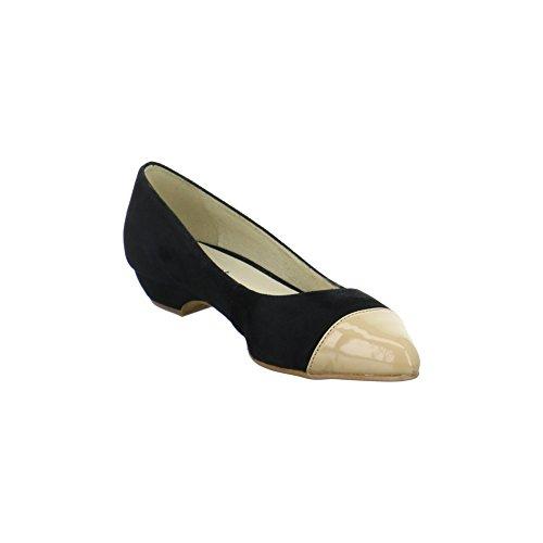 Empor 19810black/beige, Ballerine donna Nero