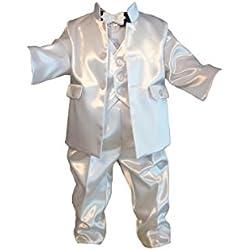 Traje De Bautizo, Traje De Fiesta, Mono Infantil, 6 Piezas, Blanco, Jóvenes De Bebé Infantil Bautismo Boda Traje G7 - algodón, blanco, 65% algodón 35% poliéster 100% poliéster.nn 35% poliéster, niños, 62