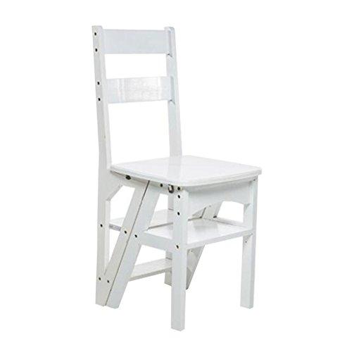 Sgabello Scaletta scalette legno Ladder Shelf Mobilia pieghevole multifunzionale della sedia pieghevole di passo di bambù di 4 strati per la cucina della camera da letto del salone della cucina