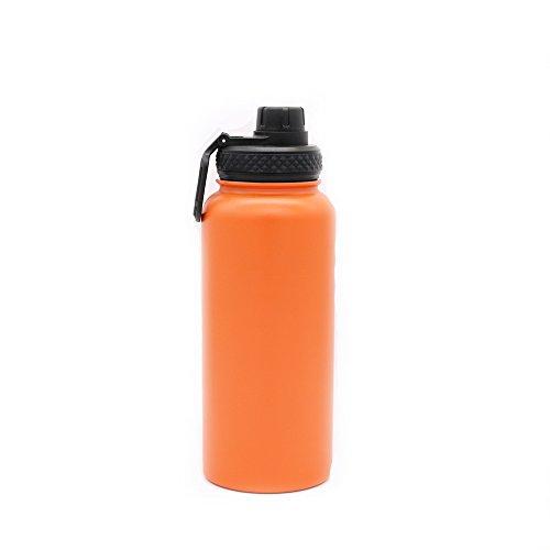 Yitye doppio in acciaio inox sport bottiglia d' acqua per bere tazza termica da viaggio escursionismo & design moderno, 1000ml, orange