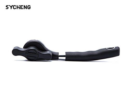 ^ Sycheng, apriscatole manuale, design 2017, in acciaio inox, con manico ergonomico antiscivolo, sicuro, le lame non toccano il cibo comprare on line