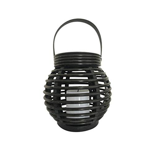 Mobestech LED Solar Garten Laterne Licht schwarz Käfig Hängelampe für den Außenbereich Gartenterrasse -