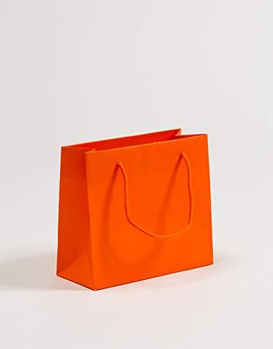 Exclusive Geschenktaschen Orange 23 x 10 x 20 + 5 cm VE 100 Stück