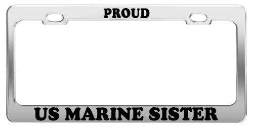 Lionkin8 Stolz Uns Marine Schwester Nummernschild Bilderrahmen Auto Truck Zubehör Geschenk