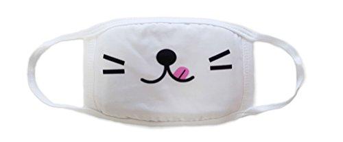 Sassy Pippi Unisex Süße Mundschutz Maske Emojimaske Kälteschutz Gesichtsmaske (Emoji D) - Atemschutzmaske Maske Kostüm